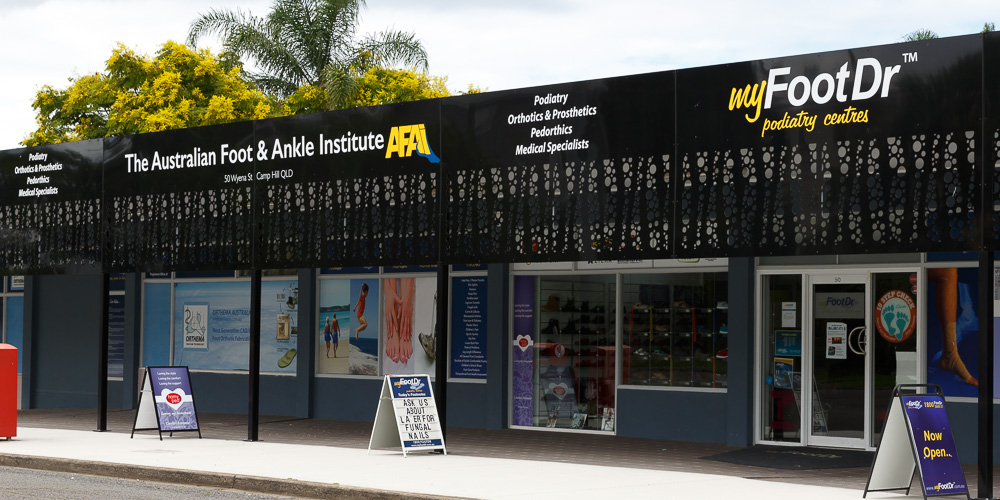 my FootDr podiatry centres / AFAI Centre of Excellence at 50 Wyena Street, Camp Hill QLD 4152