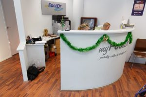 my FootDr podiatry centres Cleveland Reception