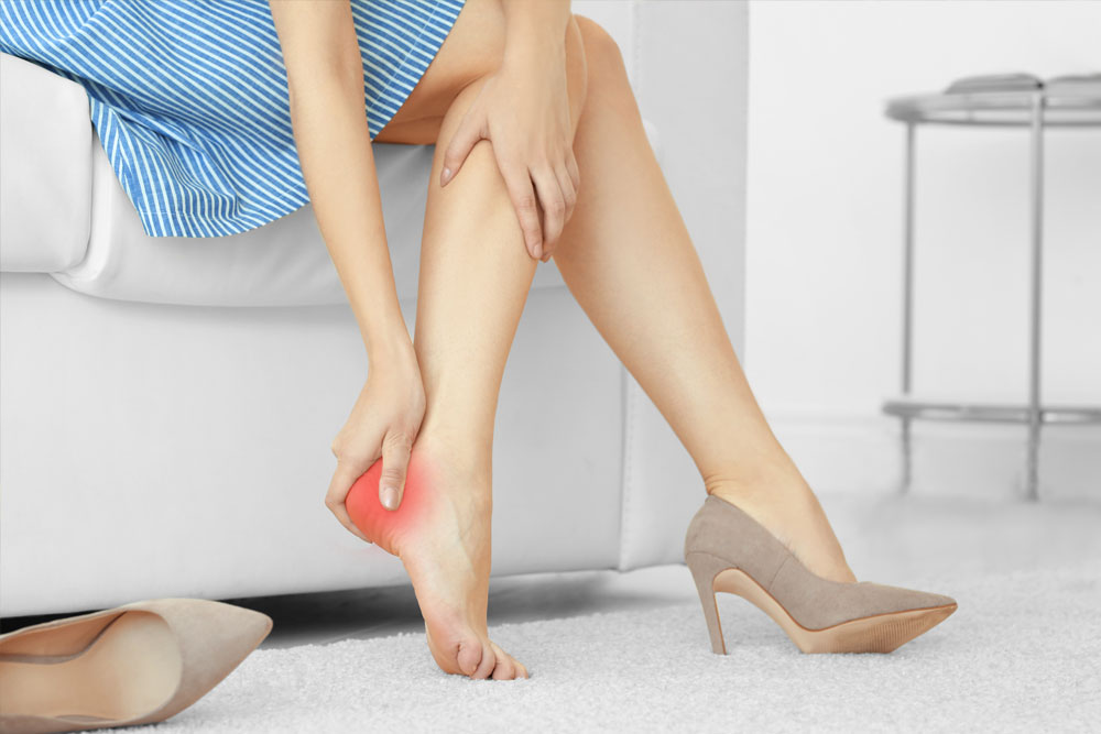 Ladies heel pain wearing heels