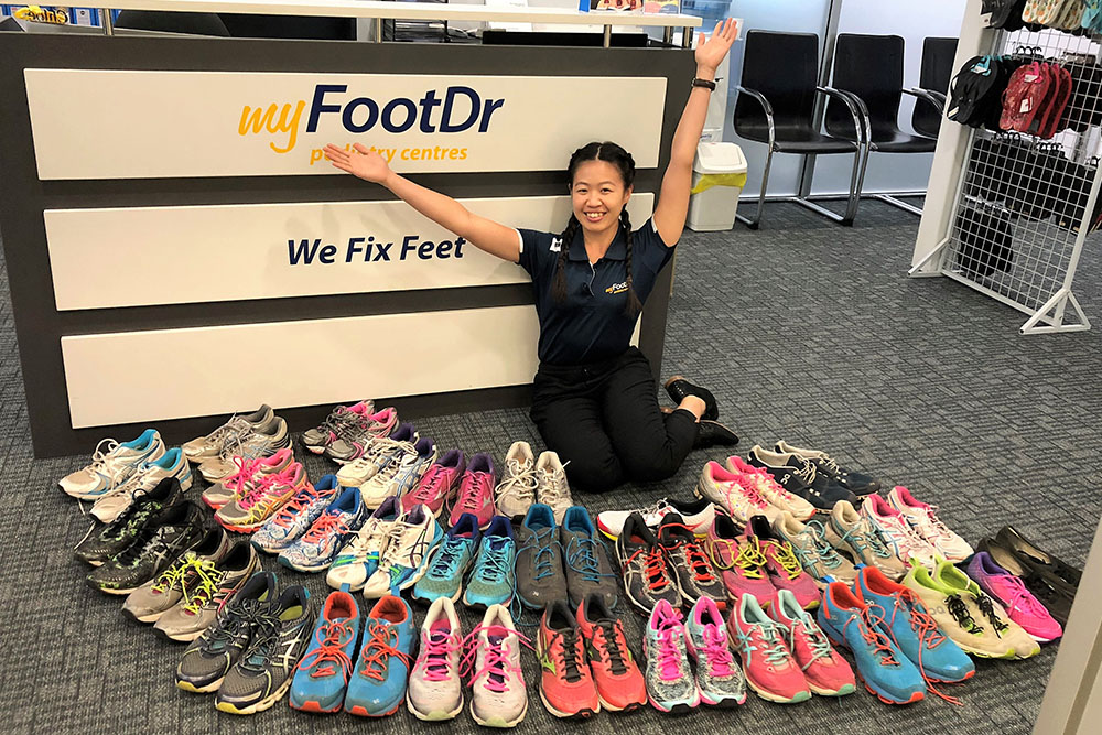 My FootDr Stafford Planet Earth Shoe Donation