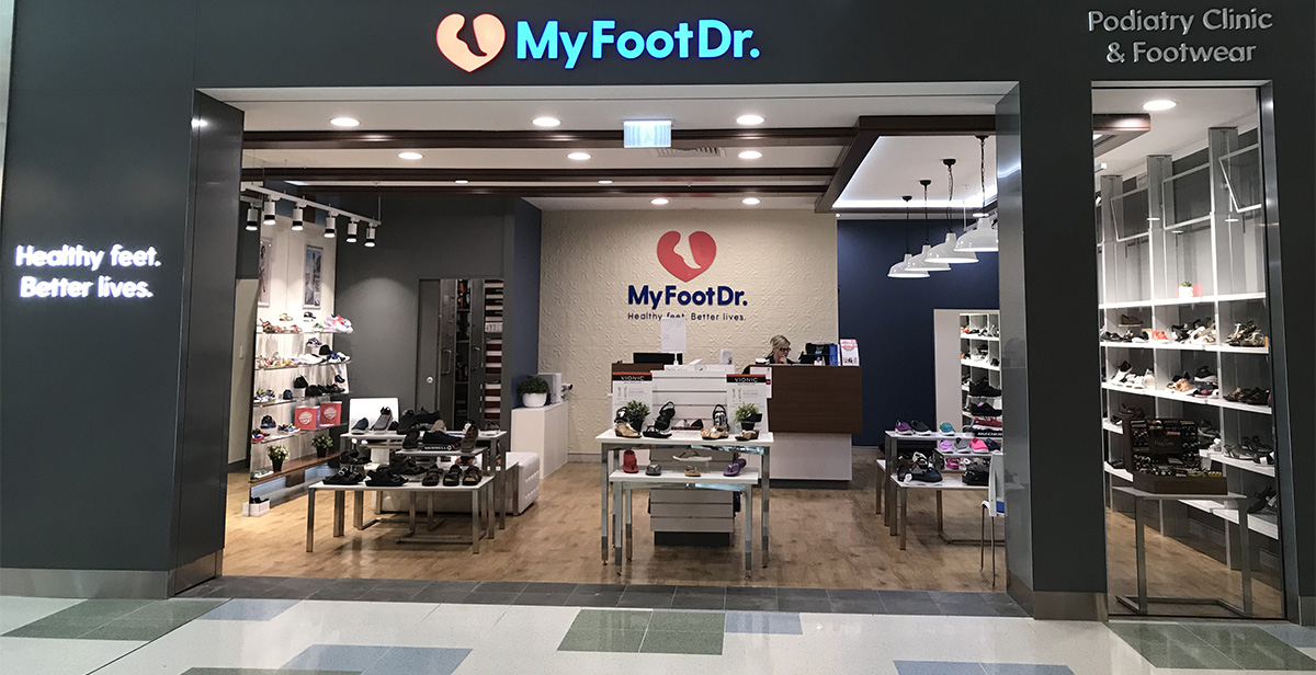 New look My FootDr Warwick Podiatry clinic shoe store