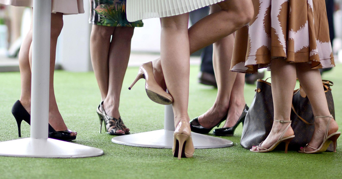 Avoid sore feet after a day at the races high heels