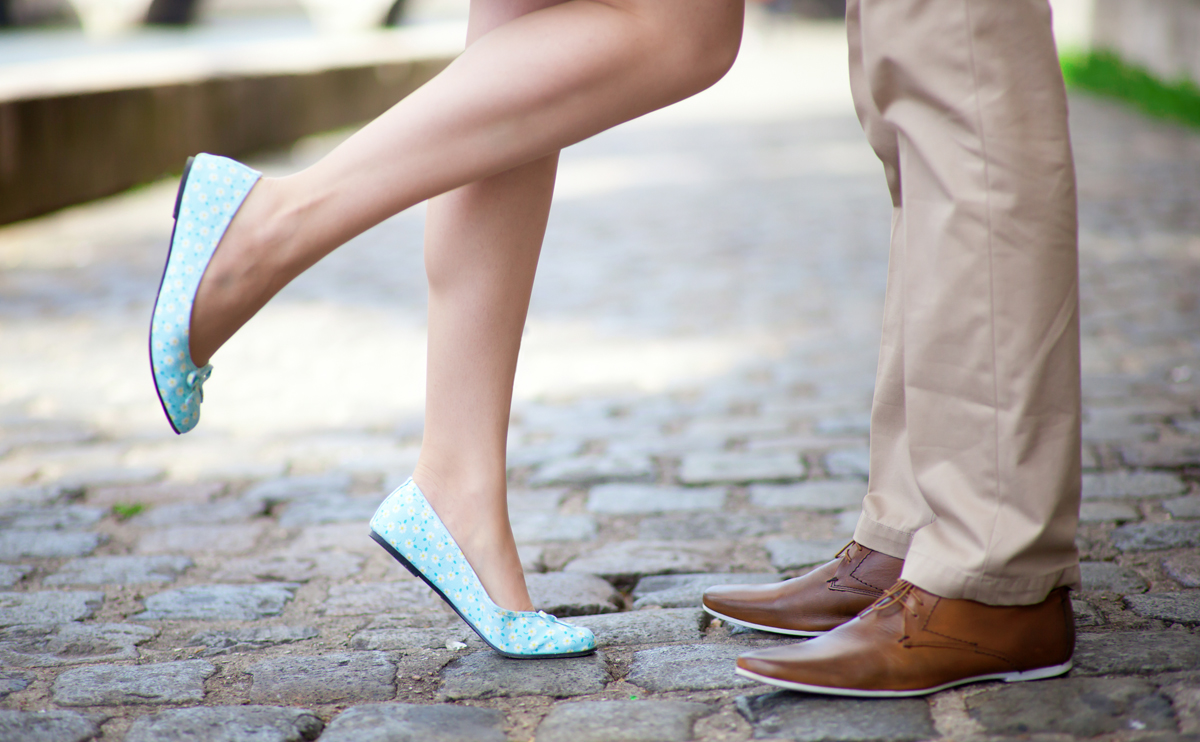 Couple romantic shoes