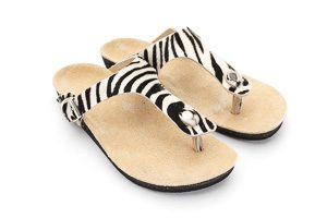 Amaroo Custom Sandals with Zebra Pattern