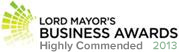 Lord Mayor's Business Awards - Highly Commended for Digital Strategy 2013