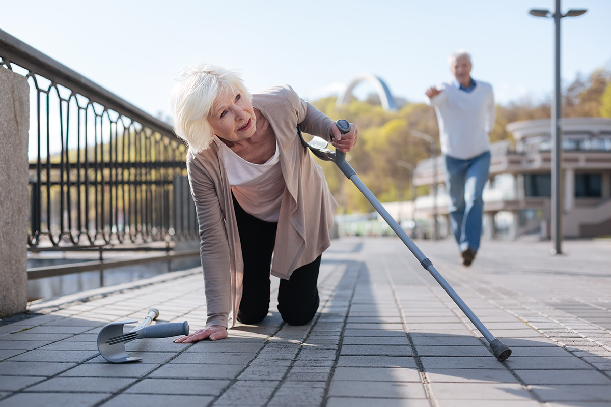 Make a stand for falls prevention