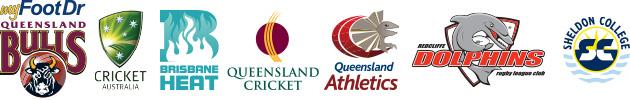 my FootDr podiatry centres, Queensland Bulls, Cricket Australia, Brisbane Heat, Queensland Cricket, Queensland Athletics, Redcliffe Dolphins, Sheldon College